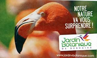 Ticket d'entrée souvenir du jardin botanique de Deshaies