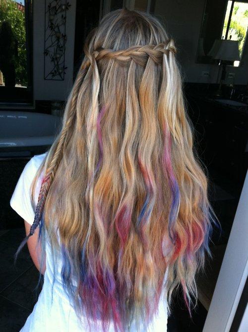 Dark Brown To Blonde Dip Dye Hair Extensions 26