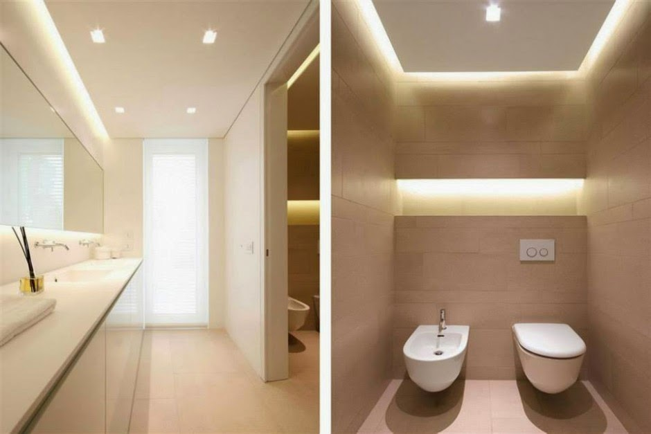 Villa dise o minimalista jesolo lido jm architecture for Fall ceiling designs for bathroom