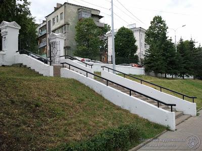 Казанский парк Черное озеро, лестница