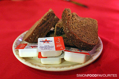 Traditional Russian black bread with butter — wasn't served at the ...