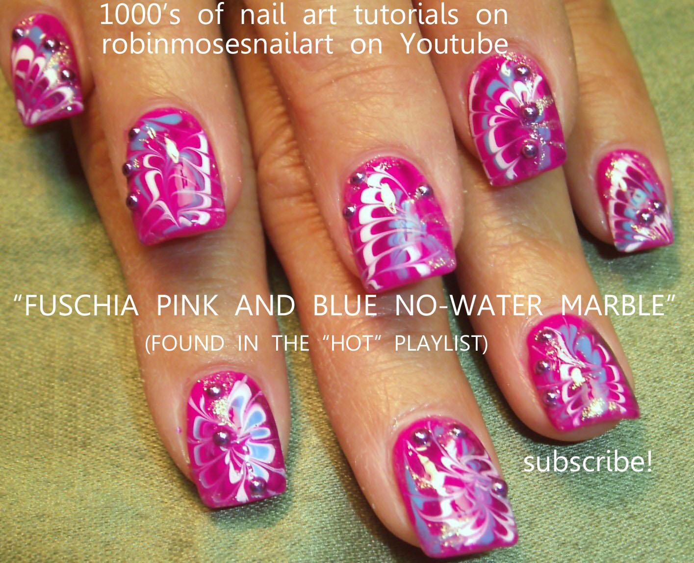 Nail Art Design: sweet diva nail, pink and teal nail, henna nail, no ...