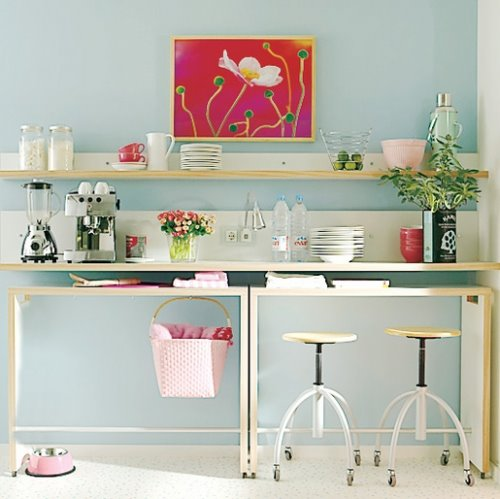 Querido ref gio blog de decora o cozinhas pequenas - Mesas de cocina altas ...