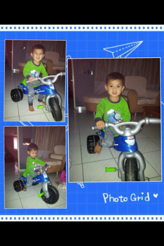 cutiez boy with FP trike