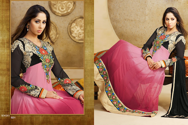 Sangeeta Ghosh Georgette Embroidered Floor Length Anarkali Suit