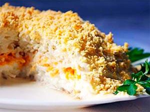 Как сделать салат «Мимоза» с консервой