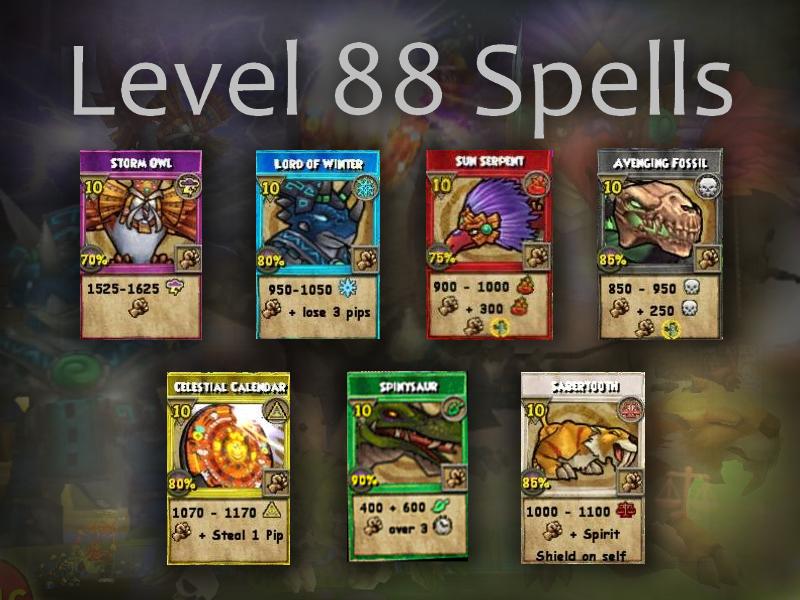 Wizard101 Level 88 Spells Analysis Swordroll S Blog Wizard101