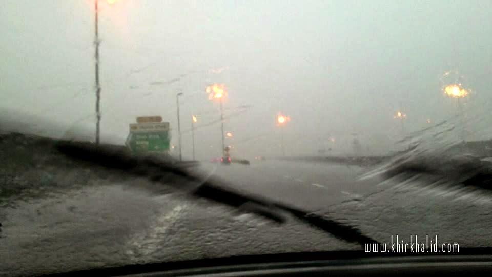 Hujan lebat di lebuhraya LATAR - GUTHRIE