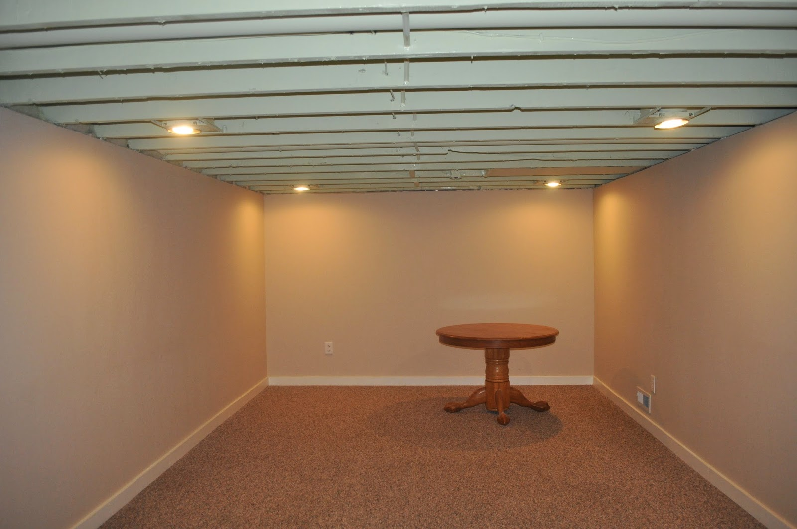 carri us home painting a basement ceiling. Black Bedroom Furniture Sets. Home Design Ideas