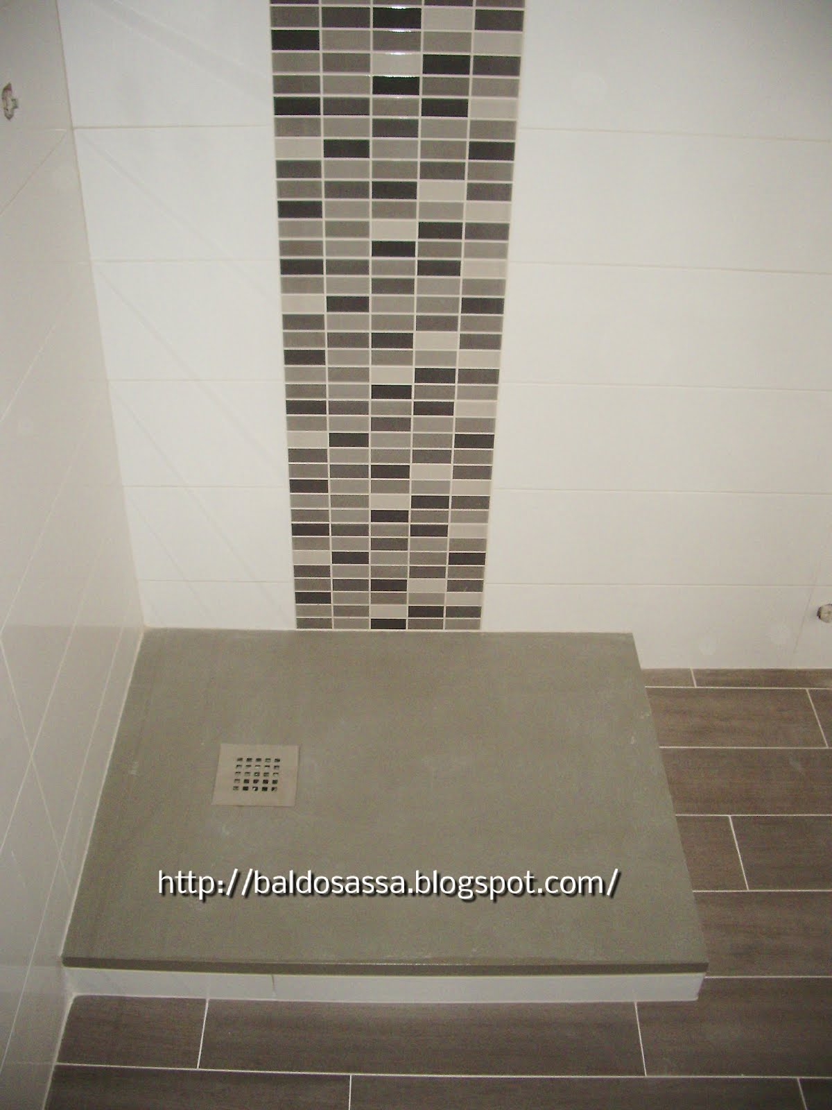 Plato de ducha Fiora gris