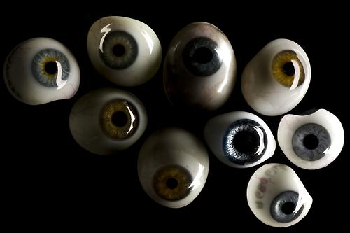 Como são feitos os olhos de vidro