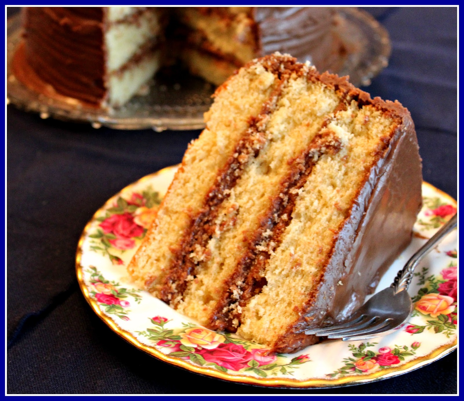 ... Tea and Cornbread: Old Fashioned Yellow Cake with Chocolate Icing
