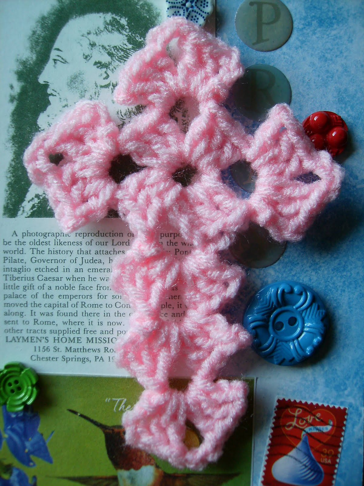 Crochet Cross Bookmark Instructions | eHow.com