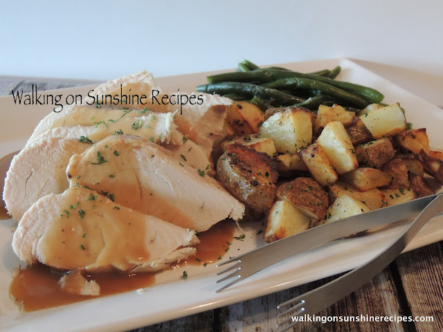 An easy recipe for turkey breast that cooks in your crock pot.  The perfect recipe to use for Thanksgiving when you need extra white meat but don't have room in your oven with the turkey cooking.  Try this recipe for moist turkey!