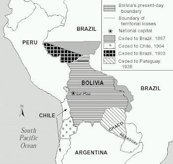 de casi tres millones de kilómetros cuadrados con que nació Bolivia en 1825