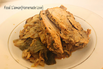 Inside-out Egyptian Cabbage Roll and Pork Roast