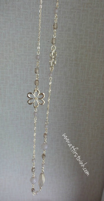 3Coins gold flower necklace
