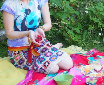 funky+crochet+skirt - Crochet Skirt Review