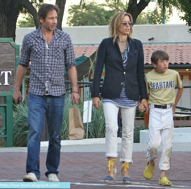 David Duchovny Family 2016