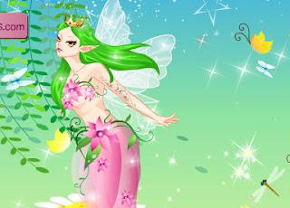 Juego de vestir a la elfa de las flores