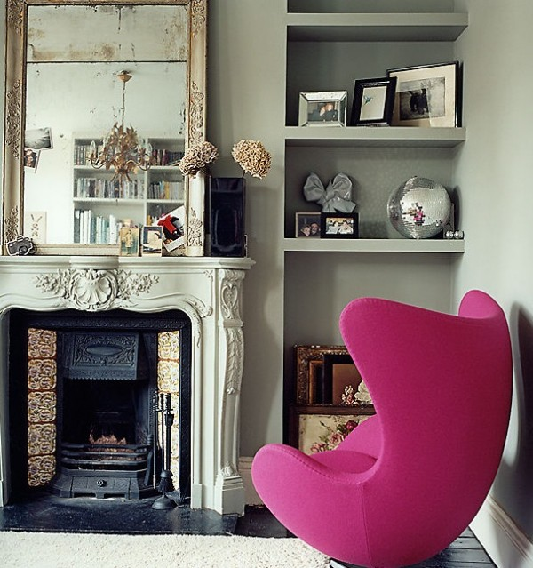 magenta pink interiors inspiration chairs living room