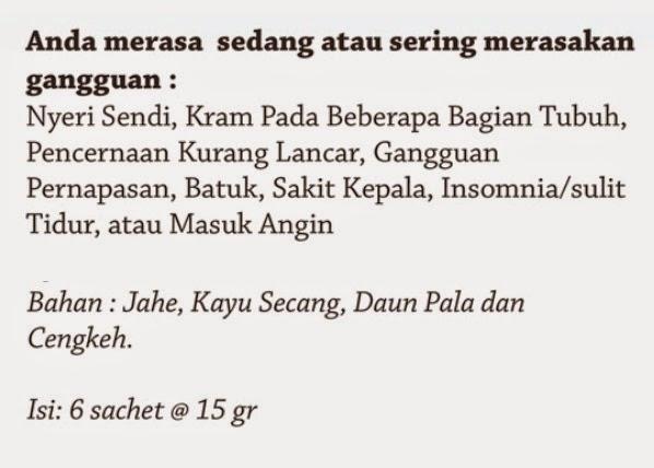Jual Minuman Kesehatan Wedang Rempah Belture pekanbaru STERLAKcom