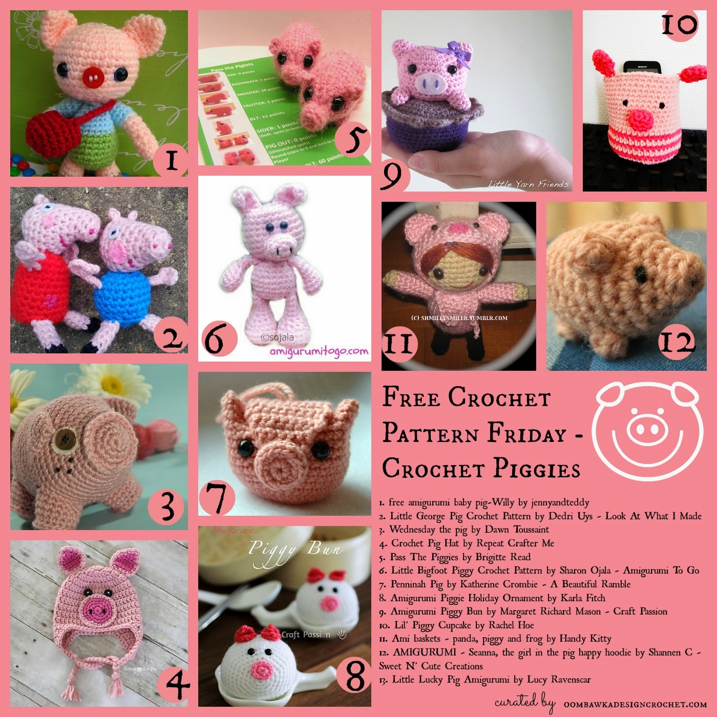 Free Crochet Pattern Friday - Little Pig Little Pig - Free Crochet ...