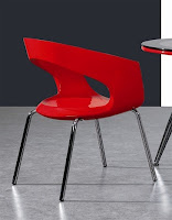 EHO Studios Red ABS Plastic Dining Chair