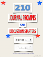 photo of 210 Journal Prompts or Discussion Starters, Pdf, Ruth S. TeachersPayTeachers.com, writing, written expression