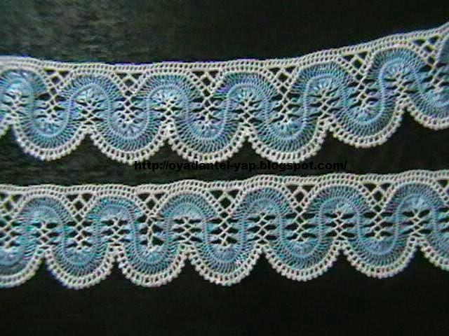 mavi firkete havlu kenarı