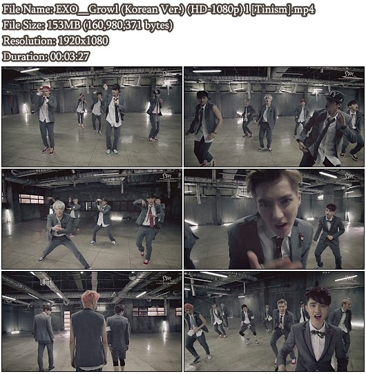 Download MV EXO (엑소) - Growl (으르렁) (Korean Ver.) (Full HD 1080p)