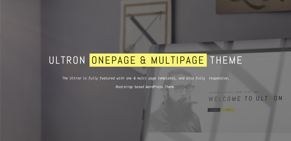 Ultron – One & Multi page Multipurpose WP Theme
