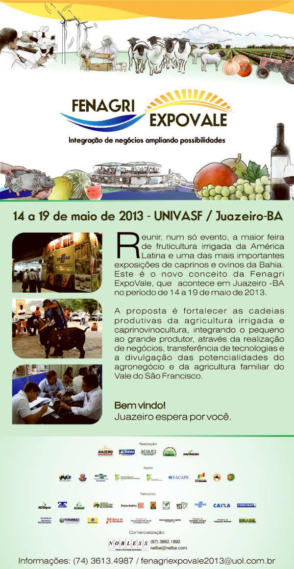 24ª Feira Nacional da Agricultura Irrigada - Fenagri Expovale 2013