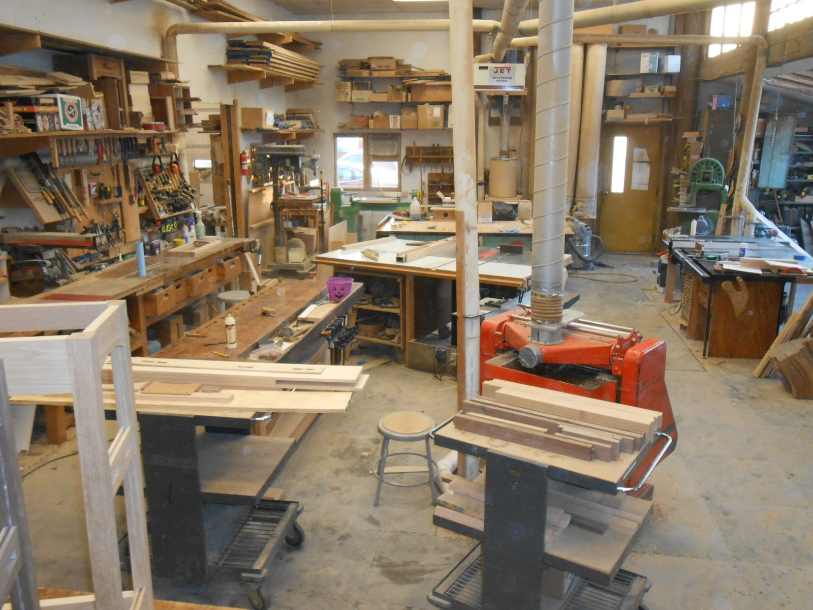 chronicles of a woodworking apprentice: cleaning the shop
