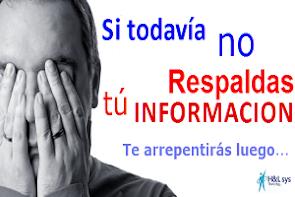 La Información es lo mas importante de nuestra actividad Profesional...Porqué ponerla en riesgo !!