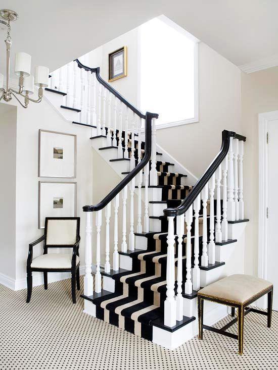 Belle maison inspiration snapshot black white - Alfombras para escaleras ...