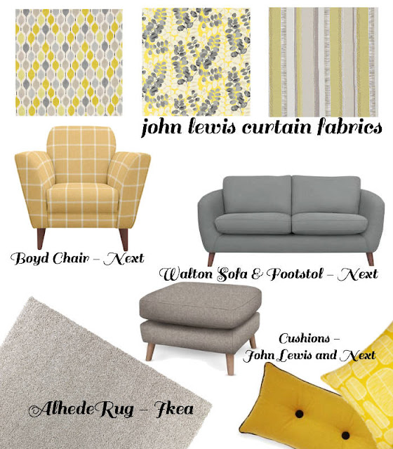 Dream living room - grey and yellow