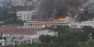 Foto Kebakaran Kantor Setneg.