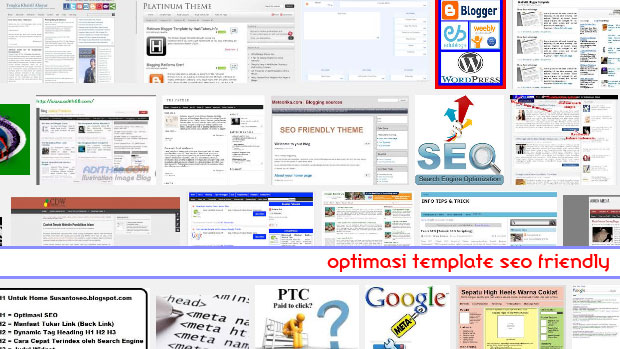 Cara optimasi template seo friendly