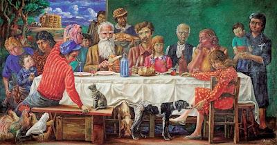 'El almuerzo', óleo del Maestro don Antonio Berni tomado de trianarts.com