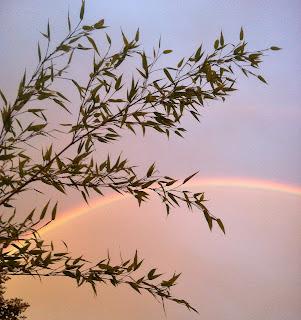 Welcome rain and a beautiful double-rainbow