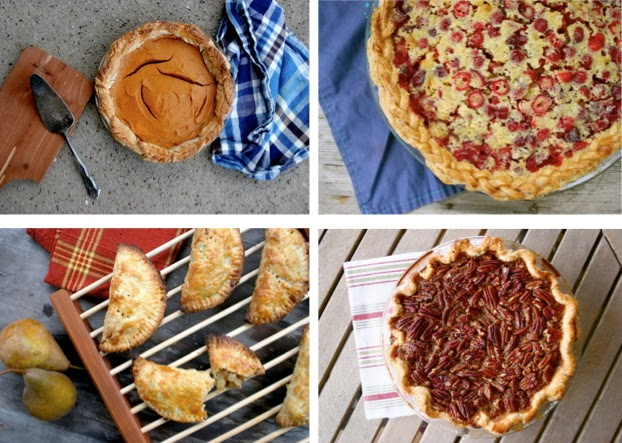 Sweet Potato Pie, Cranberry Chess Pie, Pecan Pie, Pear Hand Pies