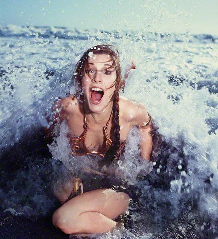 carrie fisher in bikini