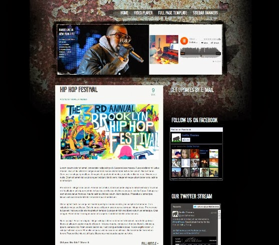 Brooklyn WordPress Music Theme