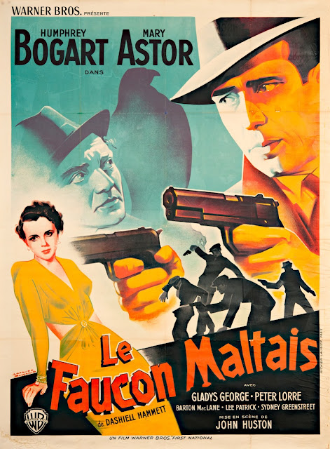 Original maltese falcon movie poster