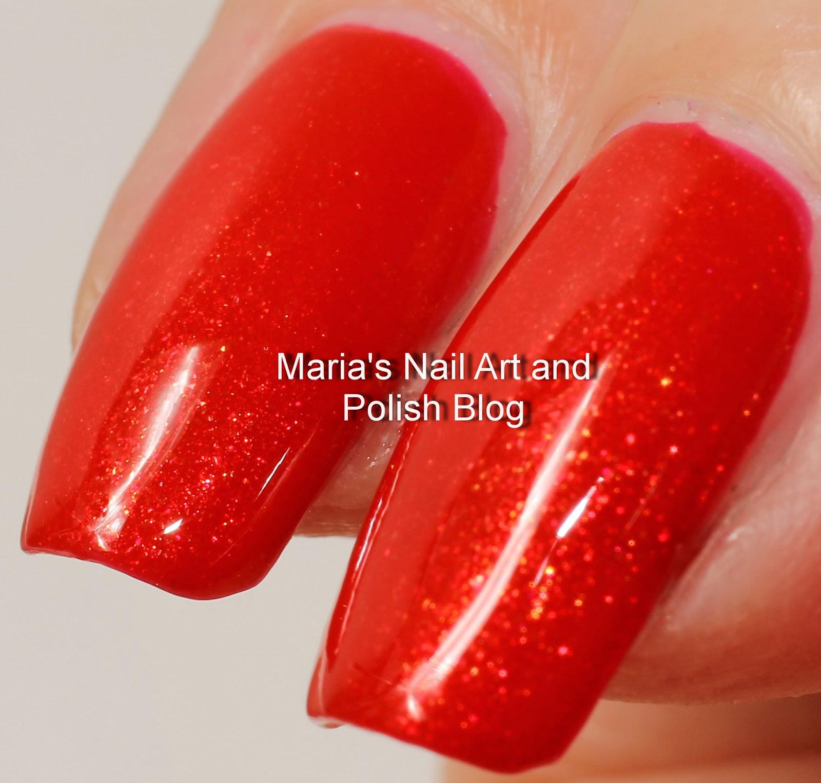 Marias Nail Art And Polish Blog: Linda Johansen Dazzle Red