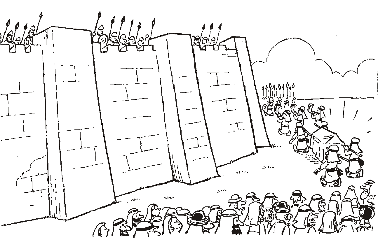 Free coloring joshua fought the battle of jericho coloring page on 1000+ images about bible: joshua on pinterest maze