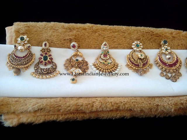Kundan Chandbali Earrings Collection