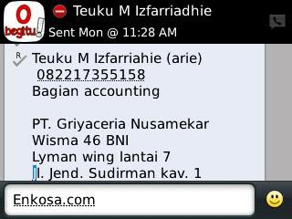 konfirmasi alamat lengkap untuk pengiriman jersey Testimoni Teuku M Izfarriahie (arie)