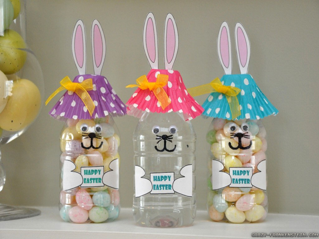 Family Crafts And Recipes Easter Crafts Easter Bunny Plastic Candy Jar